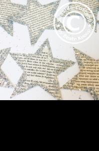 Shabby Weihnachtssterne aus alten Buchseiten