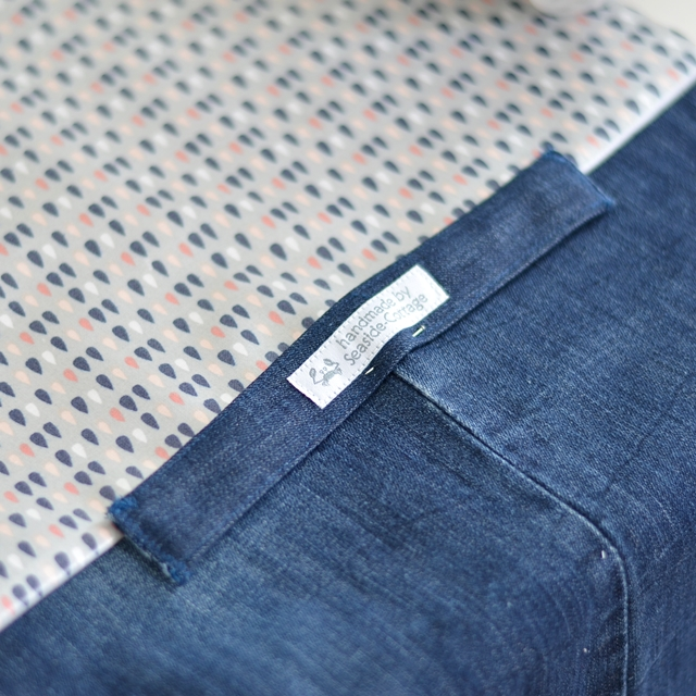 Upcycling Jeans, Picknickkissen mit Decke