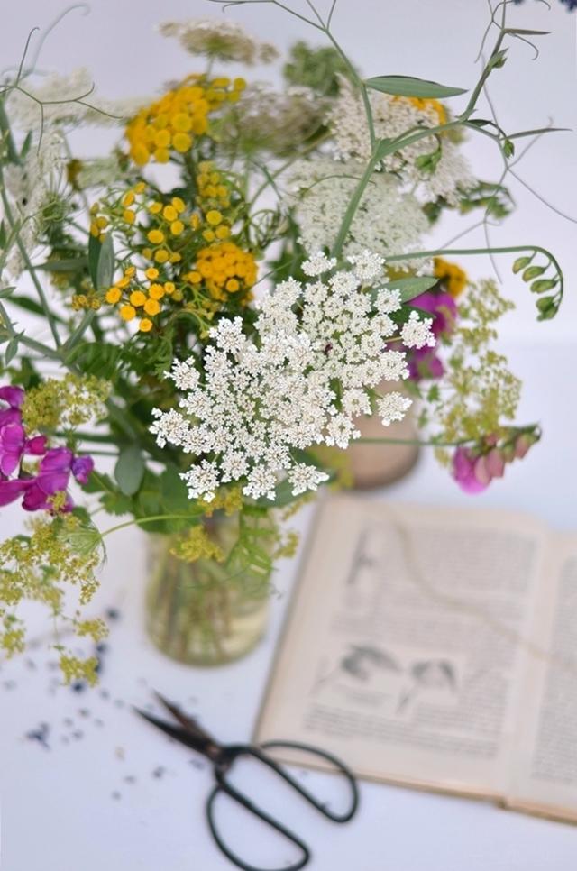 Sommerblumen Tischdeko Wildblumen Wiesenblumen
