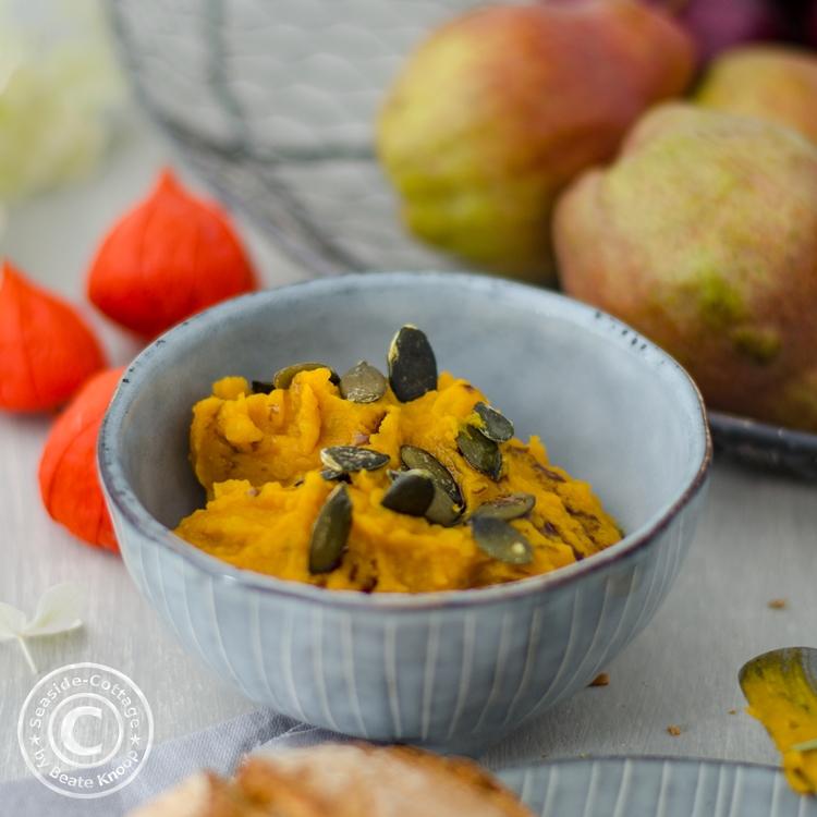 Rezept für veganen Brotaufstrich, Kürbisrezept