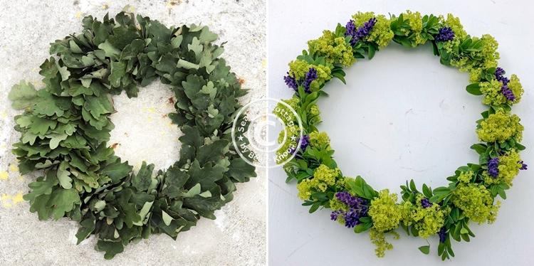 Upcycling Blumenkranz auffrischen
